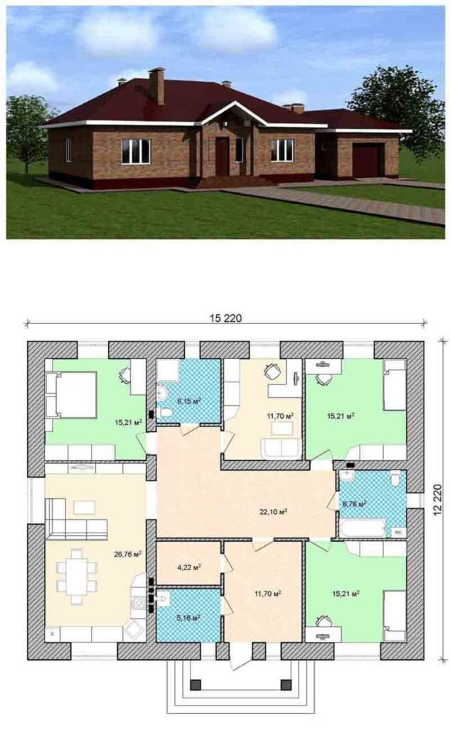 План дома с общим видом